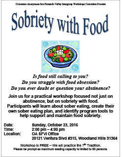 Sobriety With Food Workshop